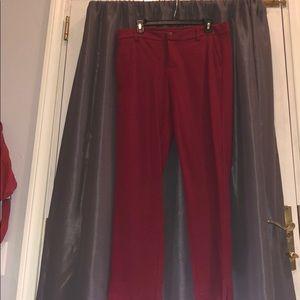 Deep red dress pant